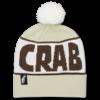 Crab Grab Pom Beanie Cream