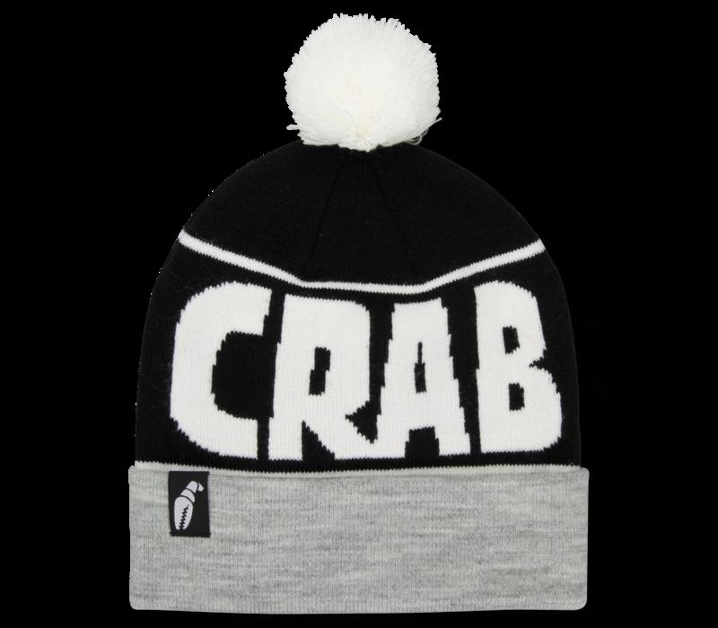 Crab Grab Pom Beanie Heather Grey Black