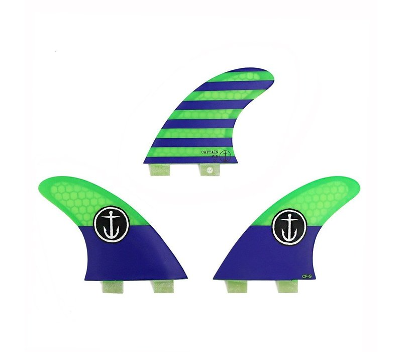Captain Fin CF Grom Twin Tab Blue