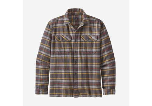 Patagonia Patagonia Men's Long-Sleeved Fjord Flannel Shirt Independence: Forge Grey