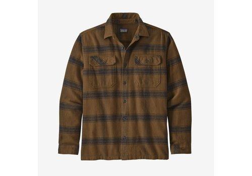 Patagonia Patagonia Men's Long-Sleeved Fjord Flannel Shirt Burlwood: Owl Brown