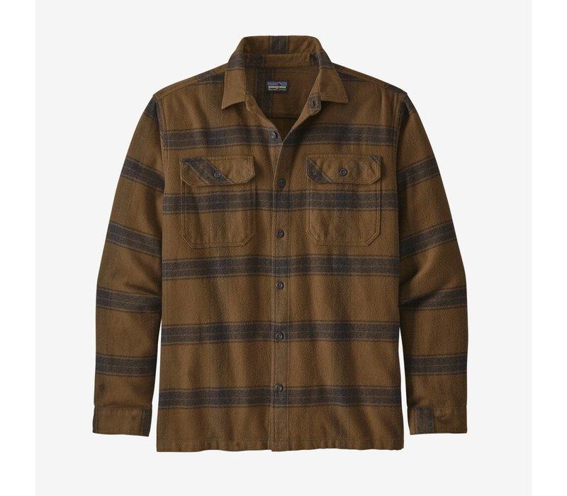 Patagonia Men's Long-Sleeved Fjord Flannel Shirt Burlwood: Owl Brown