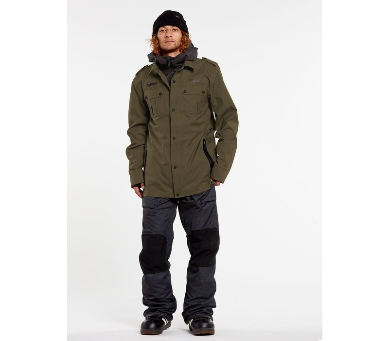 Volcom Creedle2Stone Jacket Black Military