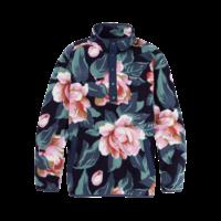 Burton Hearth Fleece Pullover Dark Slate Oversized Floral