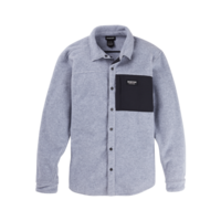 Burton Men's Burton Hearth Fleece Shirt Gray Heather