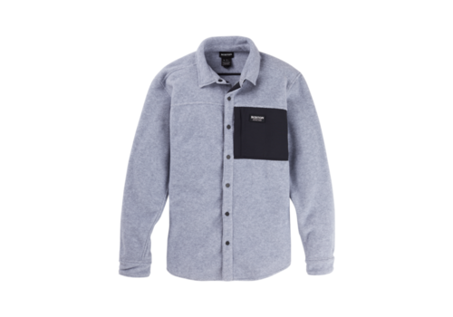 Burton Burton Men's Burton Hearth Fleece Shirt Gray Heather