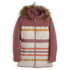 Burton Burton Lelah Jacket Rose Brown/Creme Brulee Woven Stripe