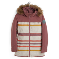 Burton Lelah Jacket Rose Brown/Creme Brulee Woven Stripe