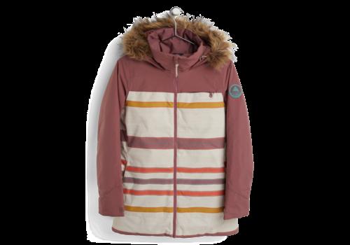 Burton Burton Lelah Jacket Rose Brown/Creme Brulee Woven Stripe
