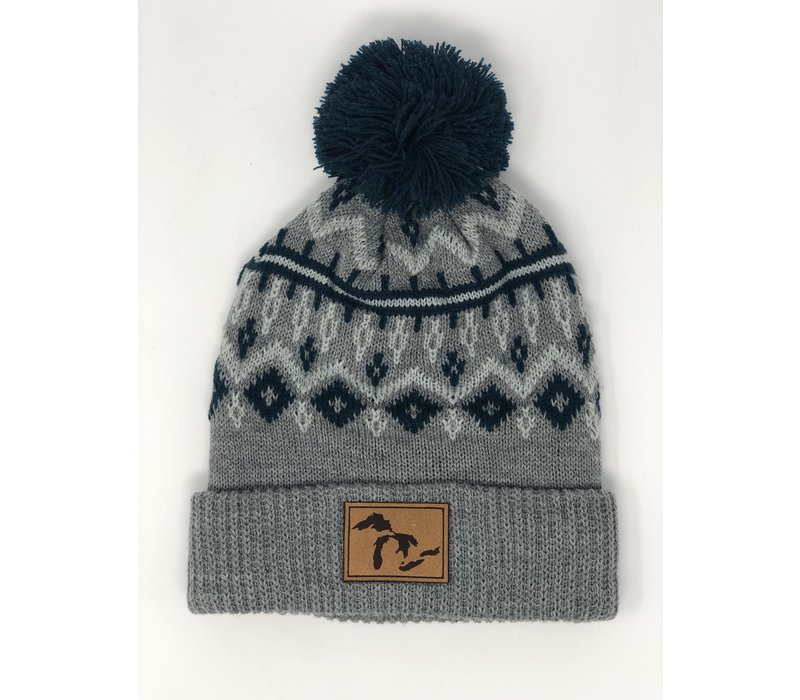 Third Coast Tivoli Beanie Grey Lakes Logo