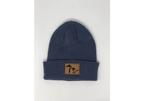 Third Coast Third Coast Drift Beanie Denim Washed Cotton