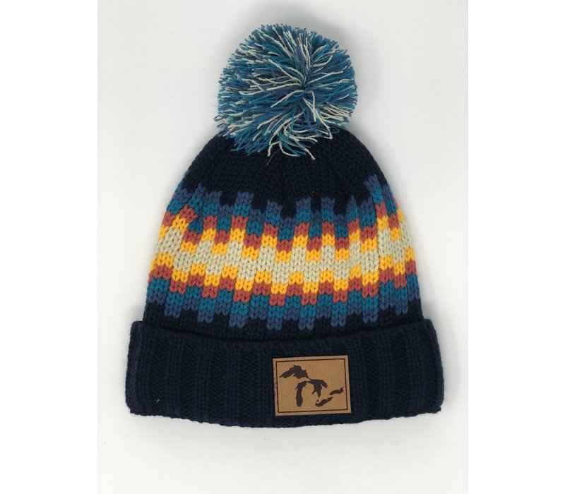 Third Coast Mosaic Beanie Navy