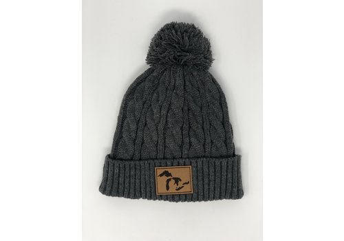 Third Coast Third Coast Mojo Cable Knit Beanie Grey