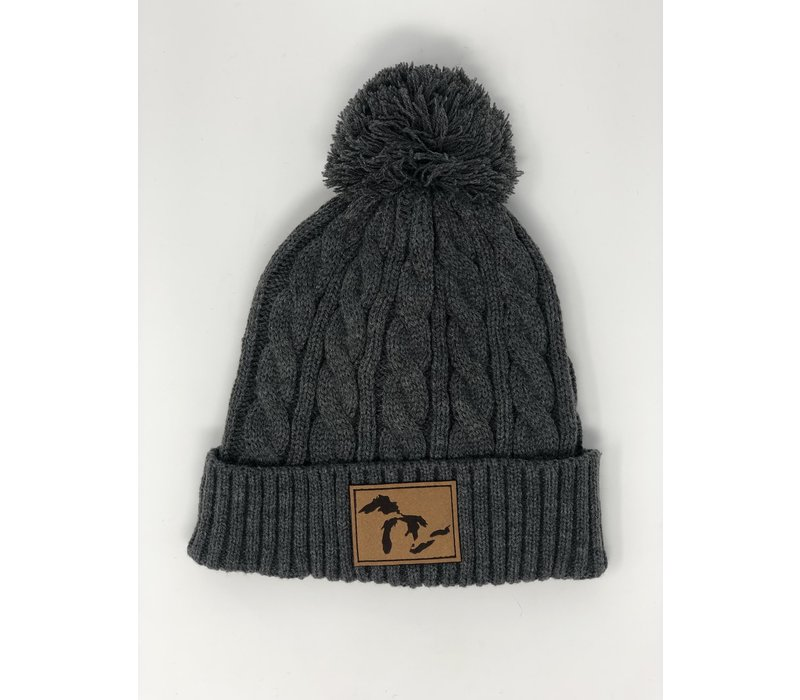 Third Coast Mojo Cable Knit Beanie Grey