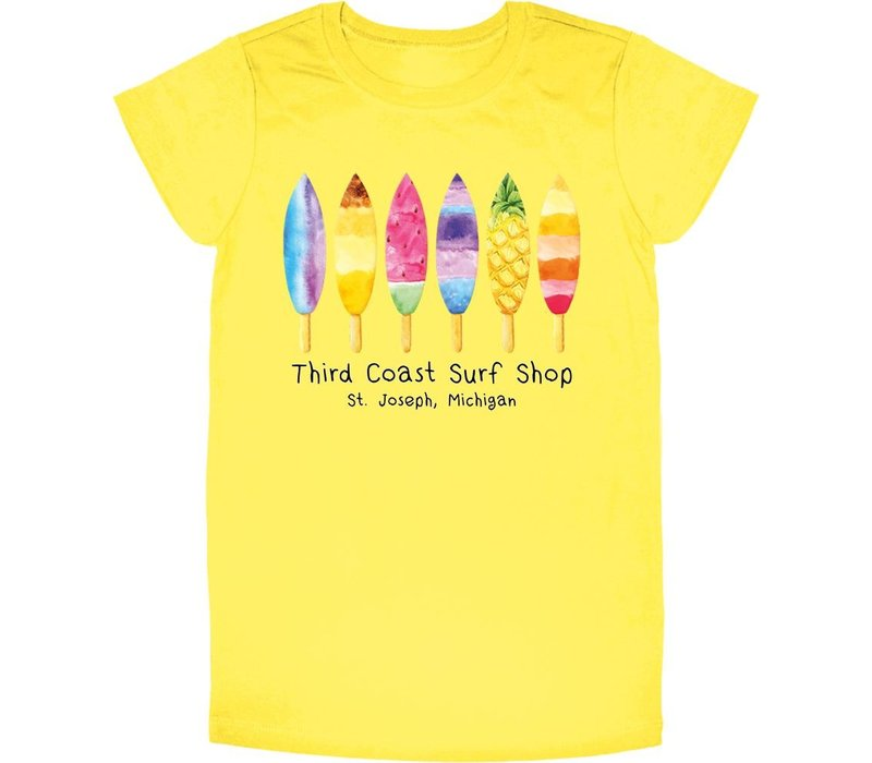 Third Coast Board Pops Youth Tee Yellow