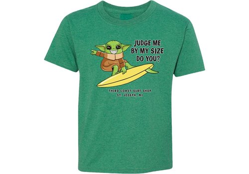 Third Coast Third Coast Baby Yoda Youth Tee Green