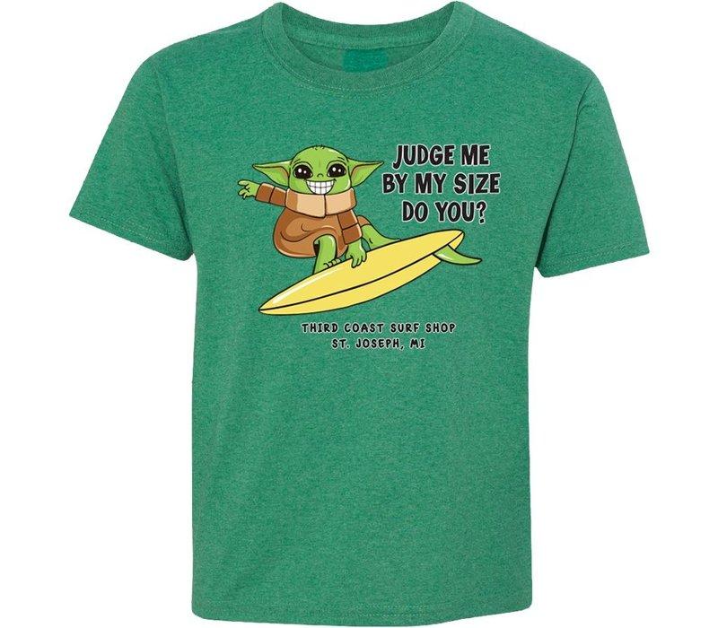 Third Coast Baby Yoda Youth Tee Green