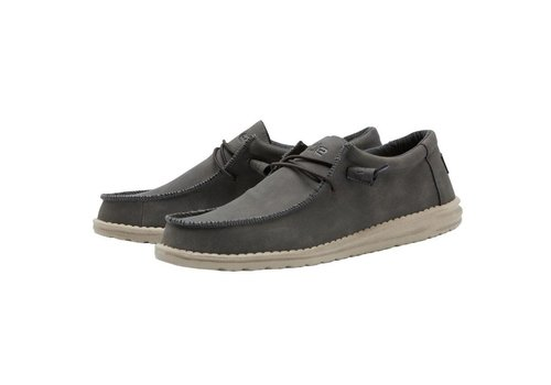 Heydude Shoes Heydude Wally Recycled Leather Coffee