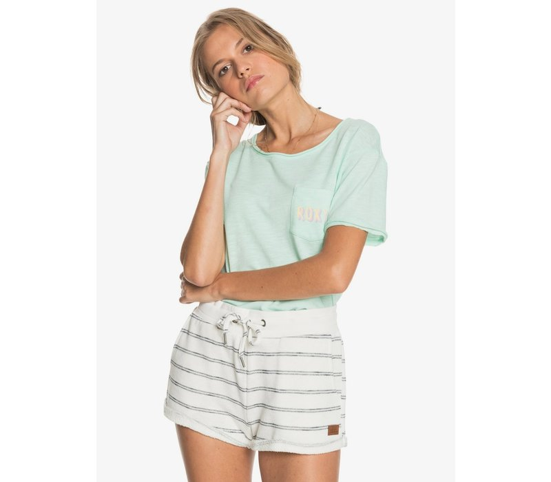 Roxy Perfect Wave Shorts Stripe Snow White Horiz