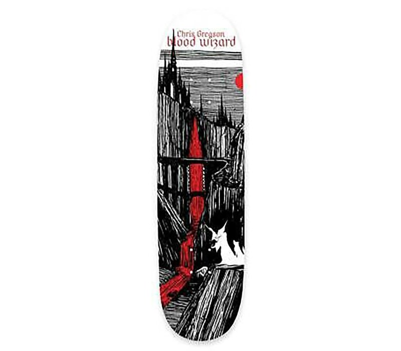 Blood Wizard Gregson Castlebasas Deck 8.5 Wht/Blk/Red