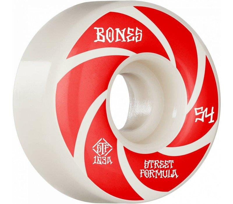 Bones STF V1 Patterns 103a 54mm White/Red