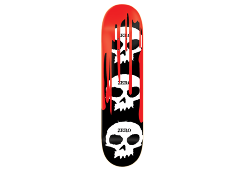 Zero 3 Skull With Blood Deck 8.5 Black White Red