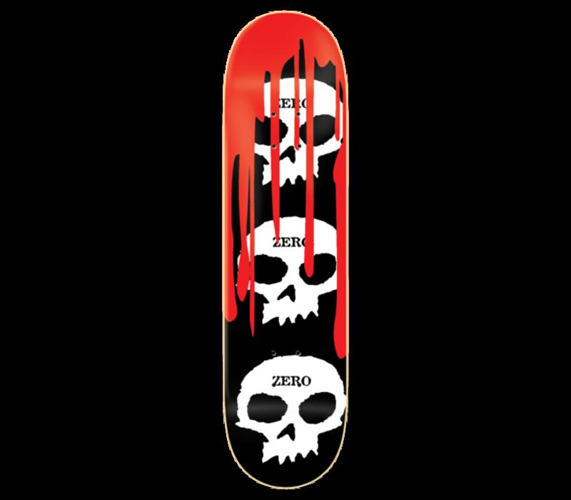 Zero 3 Skull With Blood Deck 8.5 Black White Red