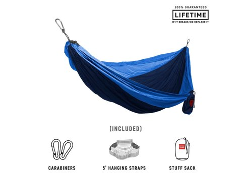 Grand Trunk Grand Trunk Double Hammock w/Strap Navy Lt. Blue