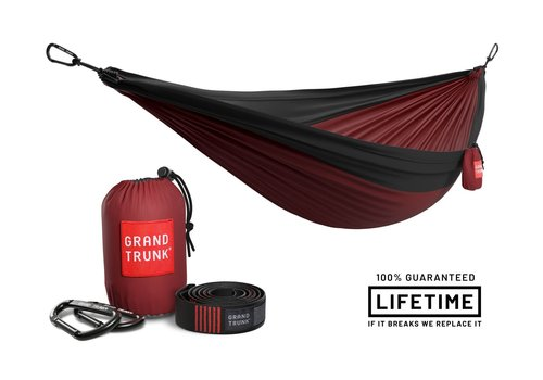 Grand Trunk Grand Trunk Double Hammock w/Strap Crimson Charcoal