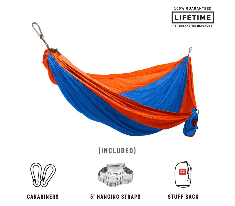 Grand Trunk Double Hammock w/Strap Blue Orange