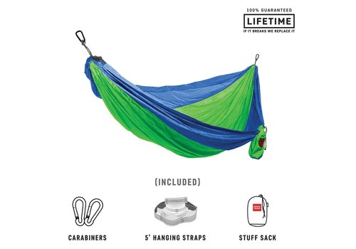 Grand Trunk Grand Trunk Double Hammock w/Strap Blue Green