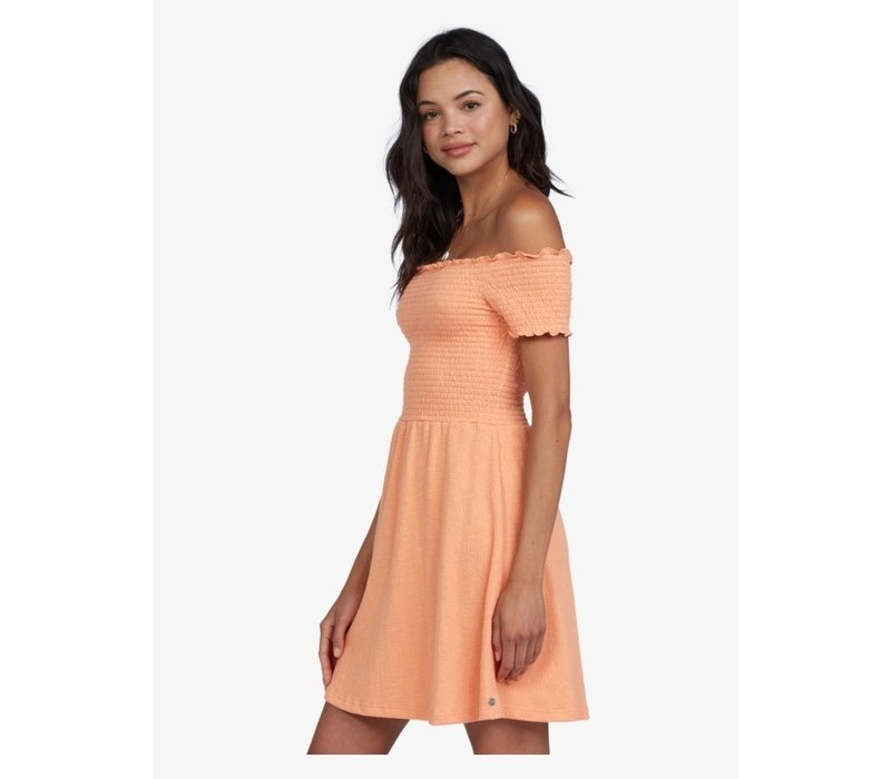 Roxy Hanging Off-The-Shoulder Dress Coral Reef