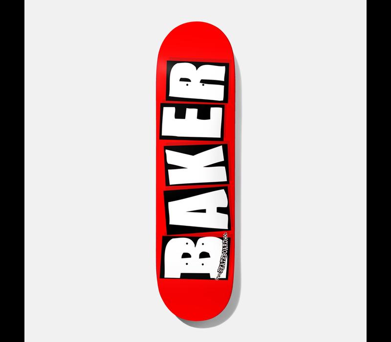 Baker Brand Logo Deck 8.0 Red White