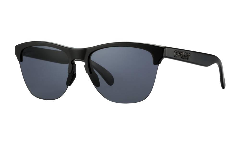 497bd45652 Oakley Frogskins Lite Semi Matte Black w  Grey Lens - Third Coast ...