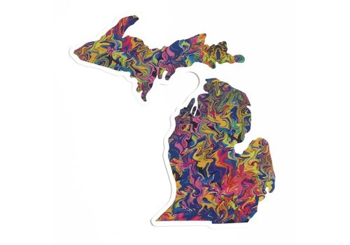 Sunset Michigan Art Sticker
