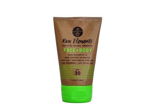 Raw Elements Raw Elements  30+ SPF Tube Eco Formula Face And Body 3oz