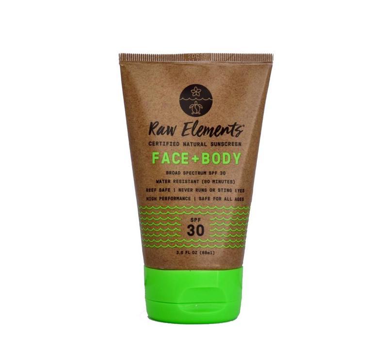 Raw Elements 30+ SPF Tube Eco Formula Face And Body 3oz