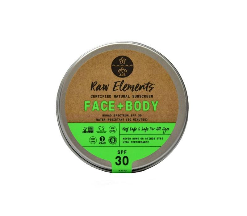 Raw Elements Tin Eco Formula Face and Body 3oz
