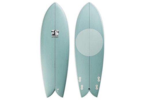Third Coast 3rd Coast Surfboards 6'0 Warrior Quad V4 Teal