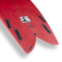 3rd Coast Surfboards 6'2 Warrior V6 Red Ombre