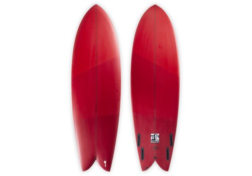 Third Coast 3rd Coast Surfboards 6'2 Warrior V6 Red Ombre