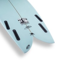 3rd Coast Surfboards 6'4 Warrior V6 Teal/Red Dot