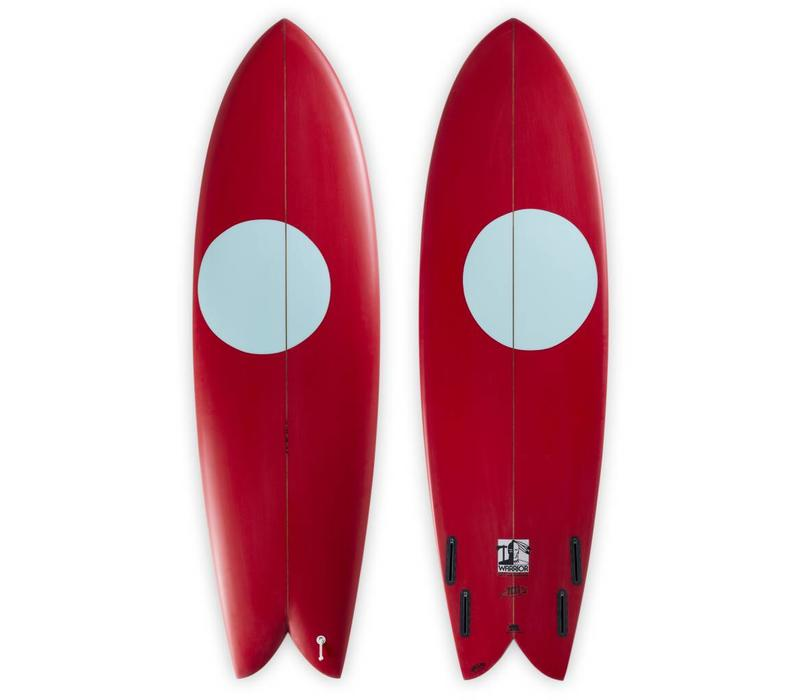 3rd Coast Surfboards 6'6 Warrior V6 Red/Teal Dot