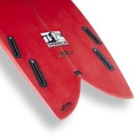 3rd Coast Surfboards 6'6 Warrior V6 Red/Teal Dot