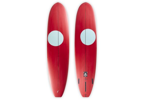 Third Coast 3rd Coast Surfboards 8'0 Medicine Man V6 Red/Teal Dot