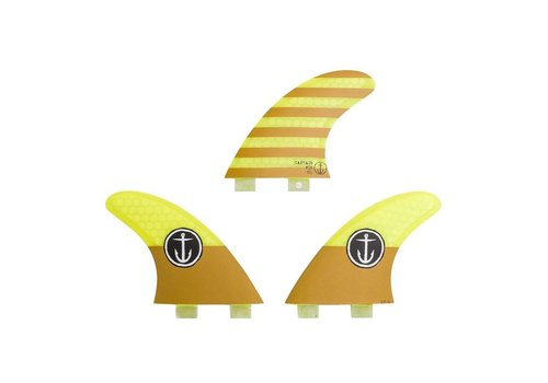 Captain Fin Co. Captain Fin CF Small Twin Tab Yellow