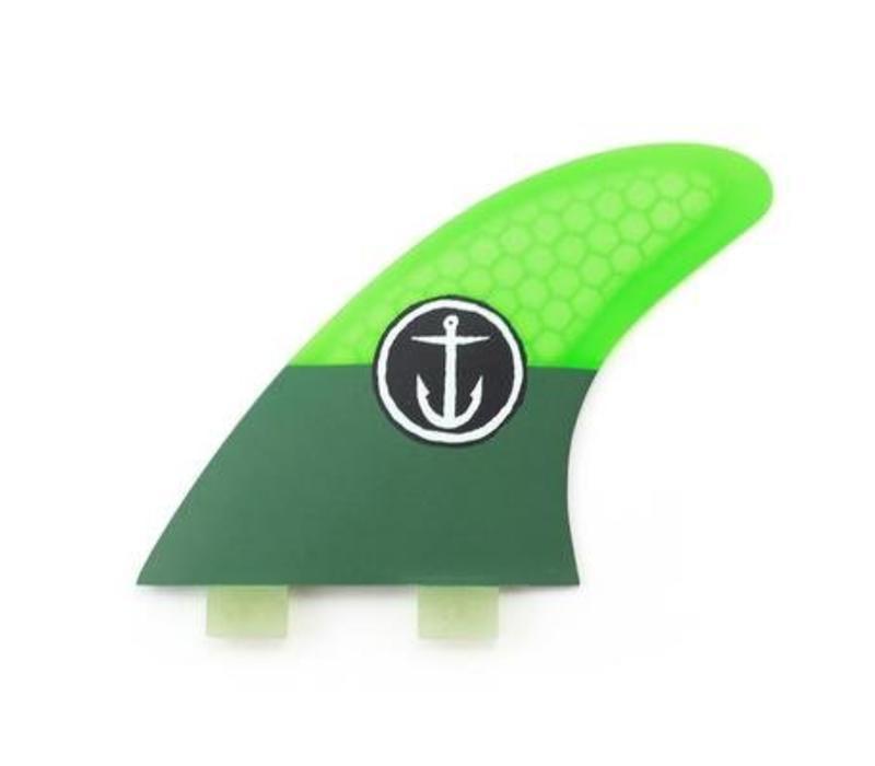 Captain Fin CF Medium Twin Tab Green