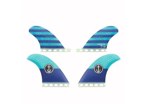 Captain Fin Co. Captain Fin CF Quad Single Tab Blue