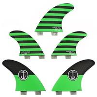 Captain Fin CF 5 Fin  Medium Twin Tab Green