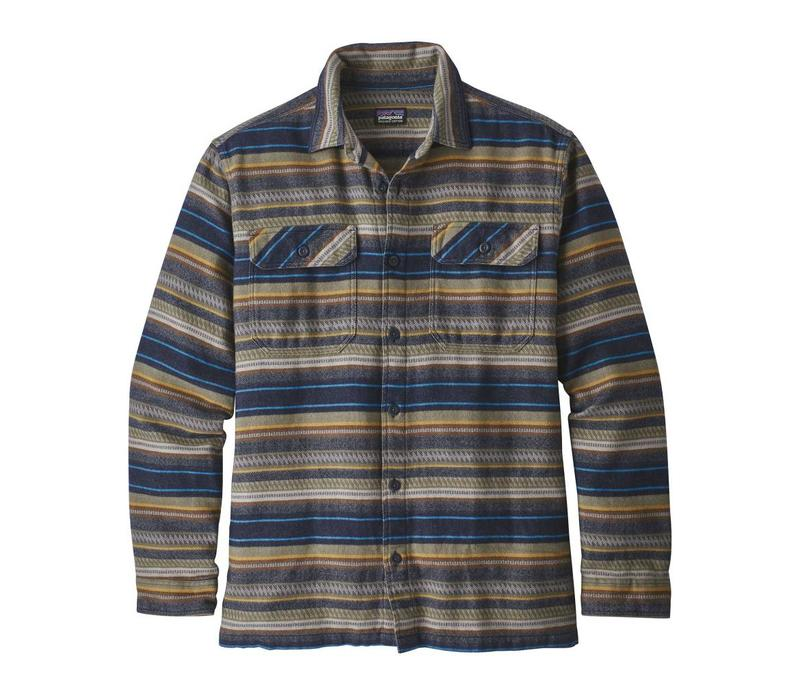 Patagonia M's L/S Fjord Flannel Folk Dobby